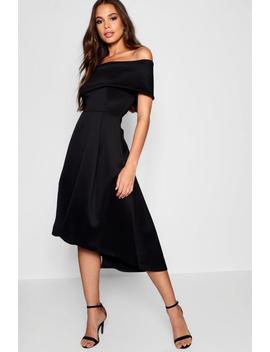 Tall Double Layer Midi Dress by Boohoo