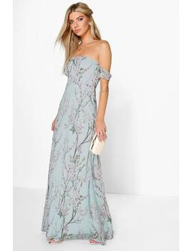 Floral Off The Shoulder Maxi Dress by Boohoo