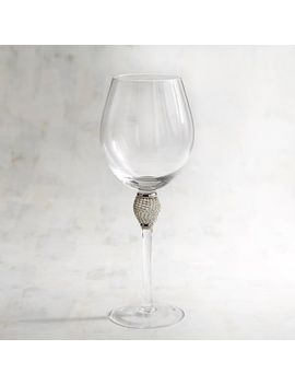 Silver Balloon Wine Glass by Jewel Collection