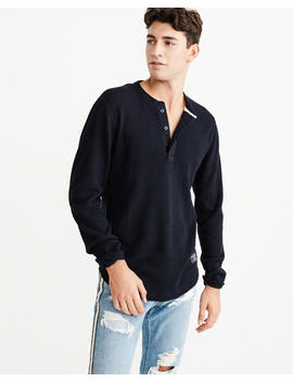 Waffle Henley by Abercrombie & Fitch