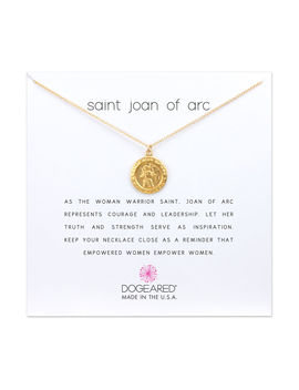 Saint Joan Of Arc Necklace, Gold Dipped by Dogeared