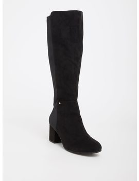 Circus By Sam Edelman Black Faux Suede & Neoprene Boot (Wide Width) by Torrid