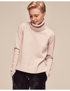 Rib Detail Jumper With Snood by Me+Em