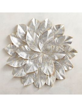 Faux Magnolia Metallic Silver Placemat by Pier1 Imports