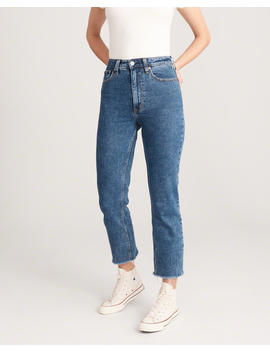 Ultra High Rise Ankle Straight Jeans by Abercrombie & Fitch