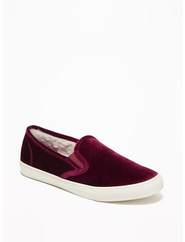 Velvet Slip Ons For Women by Old Navy