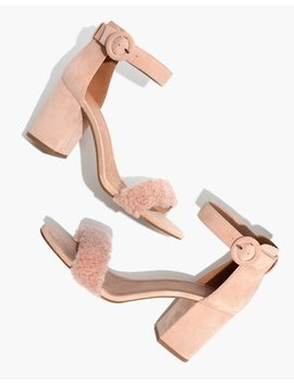 The Regina Ankle Strap Shearling Sandal by Madewell