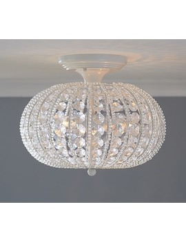 Clear Acrylic Round Flush Mount Chandelier by Pottery Barn Kids