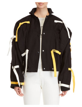 Black Strapped Jacket by Fiorucci