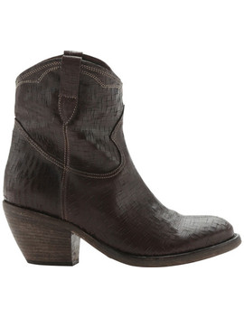 Santa Fe Leather Western Ankle Boot by Materia Prima By Goffredo Fantini