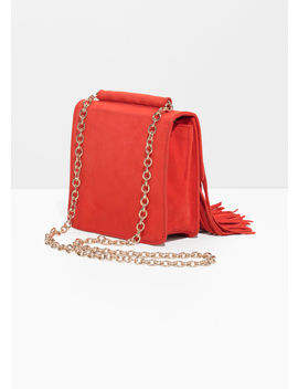 Suede Fringe Crossbody Bag by & Other Stories
