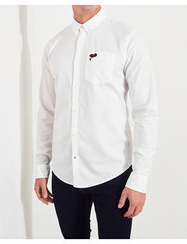 Rose Embroidered Stretch Oxford Shirt by Hollister