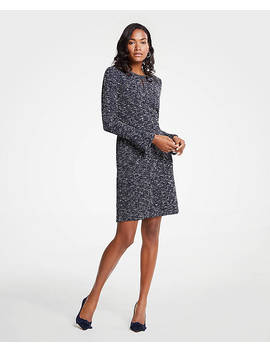 Tweed Flare Sleeve Dress by Ann Taylor