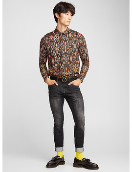 Fluid Ikat Shirt Semi Tailored Fit by Imperial