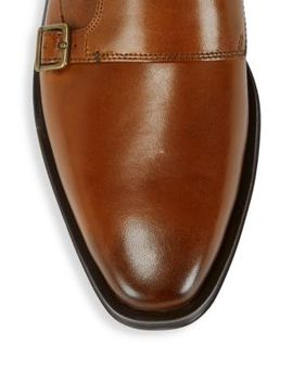 Double Monk Strap Leather Oxfords by Cole Haan