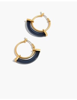 Resin Sliding Hoop Earrings by Madewell