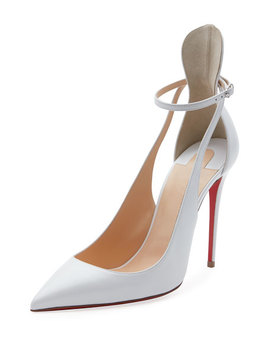 Mascara 100mm Leather Red Sole Pumps by Christian Louboutin