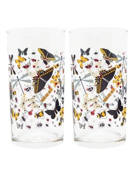 Butterfly Glass   Set Of Two by Zulily