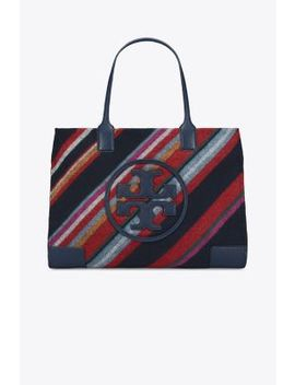 Ella Striped Tote by Tory Burch