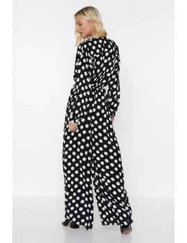 You Dot It Polka Dot Jumpsuit by Nasty Gal