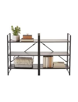 Origami Black 3 Tier Flip Shelf by Container Store