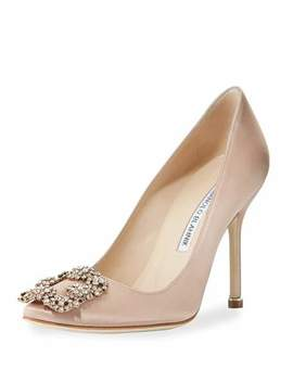 Hangisi 105mm Satin Pumps by Manolo Blahnik