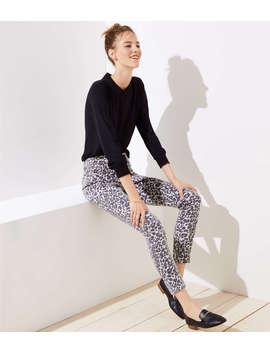 Petite Modern Skinny Jeans In Leopard Print by Loft