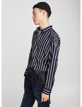 Fluid Striped Shirt Semi Tailored Fit by Le 31