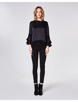 Charmeuse Ruffle Blouse by Nicole Miller