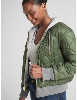 Reversible Fleece Lined Logo Puffer Jacket by Gap