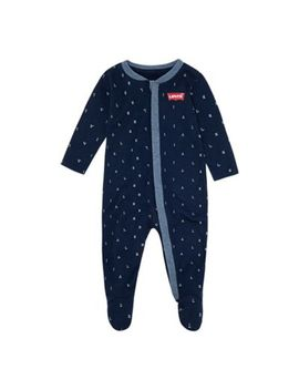 Levi's® Letter Toss Print Coveralls In Navy by Bed Bath & Beyond