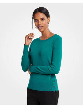 Side Button Sweater by Ann Taylor