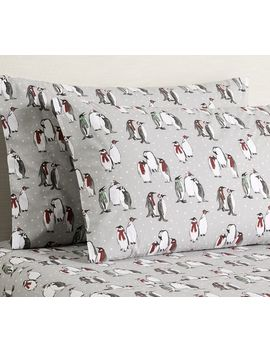 Penguin Print Organic Sheet Set by Pottery Barn