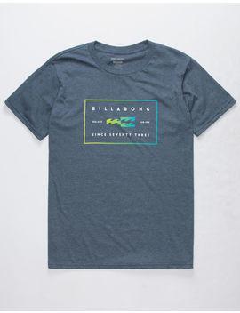 Billabong Equal Heather Navy Mens T Shirt by Billabong