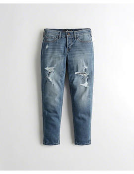 Classic Stretch Low Rise Boyfriend Jeans by Hollister