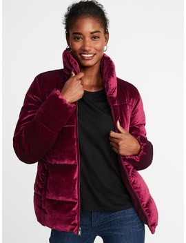 Quilted Velvet Jacket For Women by Old Navy