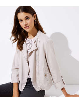 Soft Washed Moto Jacket by Loft