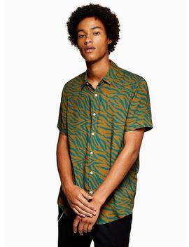 Zebra Print Short Sleeve Shirt by Topman
