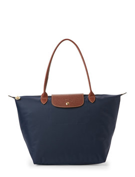 Navy Le Pliage Large Tote by Longchamp