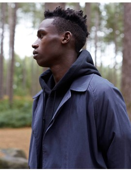 The Idle Man Oversized Mac Navy by Idle Projects
