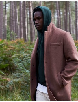 The Idle Man Wool Blend Overcoat Caramel by Idle Projects