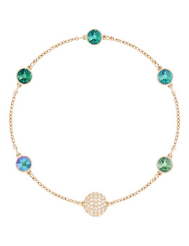 Swarovski Remix Collection Green, Multi Colored, Rose Gold Plating by Swarovski