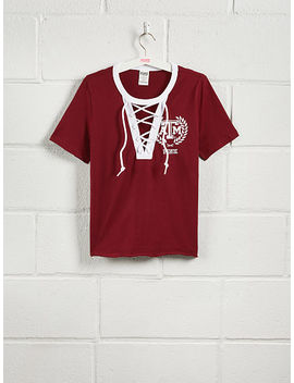 Texas A&M University Short Sleeve Perfect Lace Up Tee by Victoria's Secret