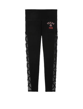 Texas A&M University Cotton High Waist Lace Up Mesh Ankle Legging by Victoria's Secret