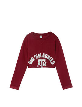 Pink 					 					New! Texas A&M University Campus Cropped Crew by Victoria's Secret