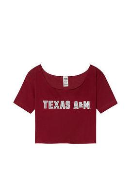 Texas A&M University Cutoff Raw Edge Neck Tee by Victoria's Secret