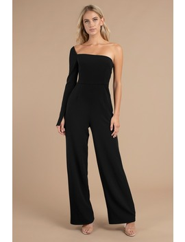 Louise Black One Shoulder Jumpsuit by Tobi