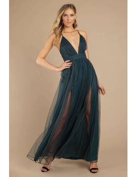 Save Me A Dance Emerald Maxi Dress by Tobi