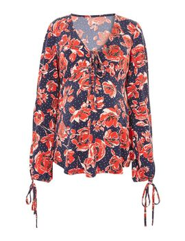 **Maternity Floral Print Blouse by Topshop