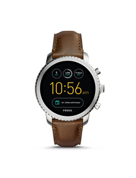 Gen 3 Smartwatch – Q Explorist Brown Leather by Fossil
